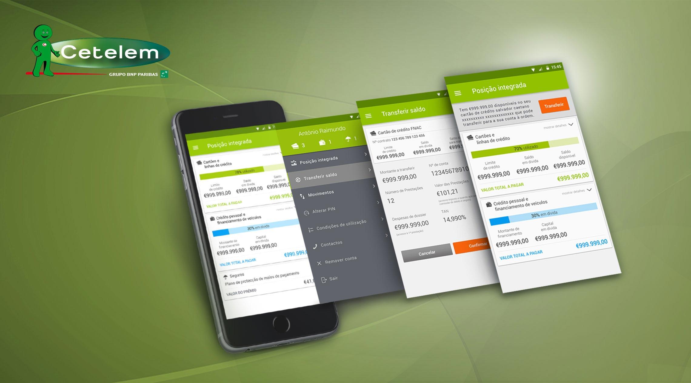 Cetelem – Apps móveis para iOS e Android