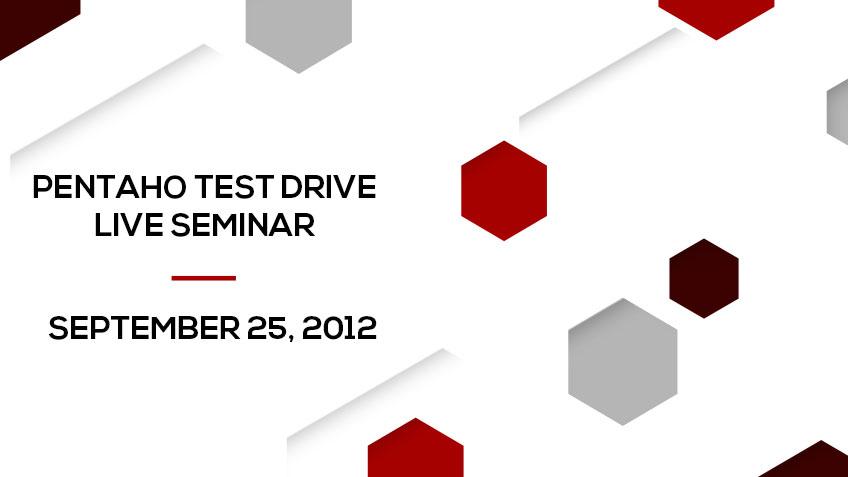 Pentaho Test Drive – Live Seminar in Lisbon Event